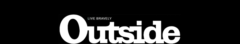 Outside Magazine logo white text on black background